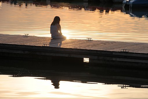 Boat Dock, Girl, Human, Child, Nature, Person, Water