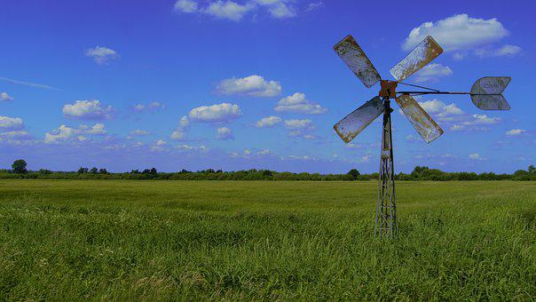 Pinwheel, Lower Saxony, Wing, Flat Land, Old, Idyllic