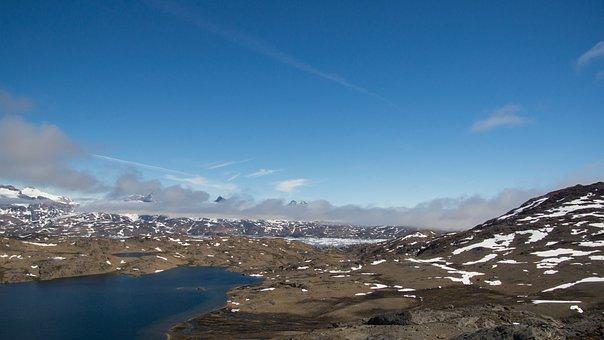 Mountain, Lake, Sea, Wilderness, Ice, Landscape, Nature