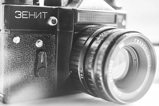 Machine, Photo, Lens, Old, Photographer, Photography
