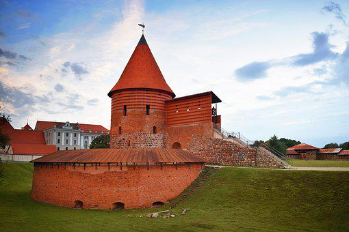 Castle, Medieval, Tower, Kaunas Castle, Lithuania, Old