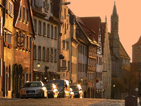Rothenburg, Tauber, Mr Lane, Evening Light