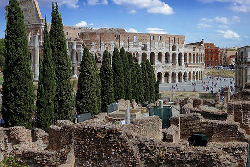 Rome, Colosseum, Italy, Antiquity, Places Of Interest