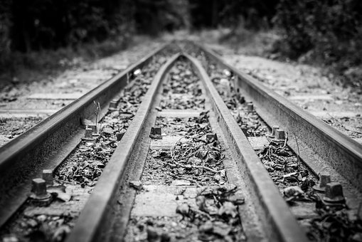 Track, Rail, Perspective, Railroad, Railway, Steel