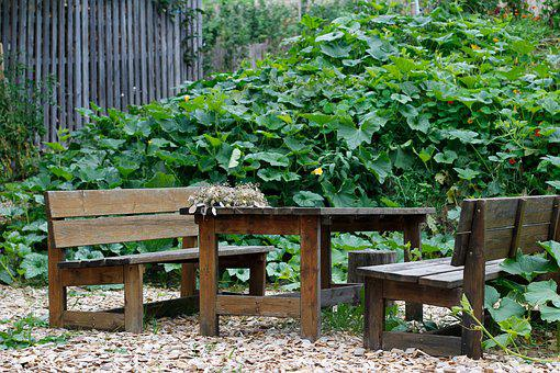 Garden, Garden Bench, Green, Idyll, Sit, Park, Rest