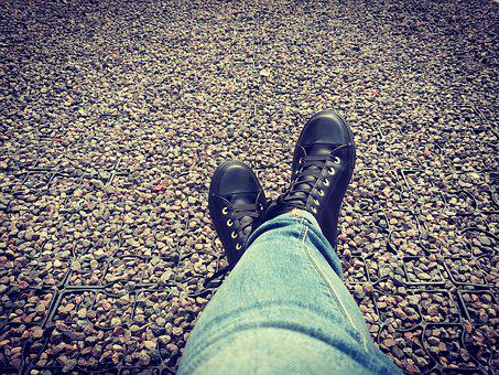 Rest, Relaxation, Shoes, Layout, Gravel, Vacations