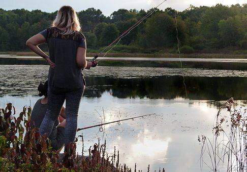 Woman, Fishing, Fisherwoman, Fisherman, Rod, Fish