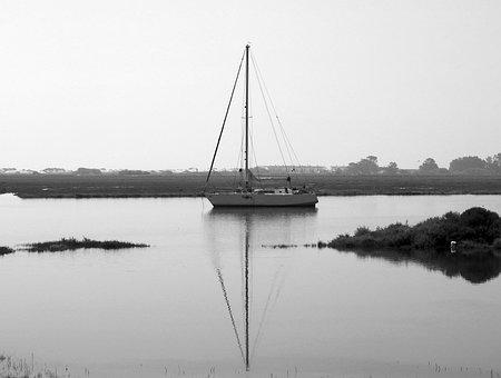 River, Seariver, Sailing Boat