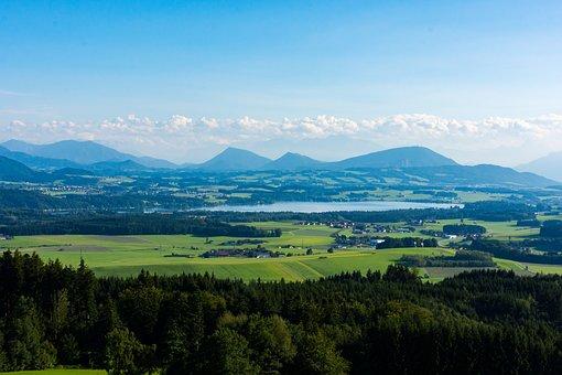 Tannberg, Wallersee, Salzburg, Lake, Austria, Landscape