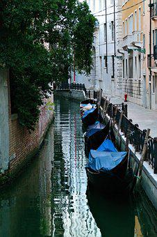 Channel, Gondola, Venice, Italy, Water