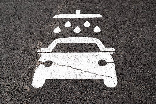 Car Wash, Sign, Clean, Wash, Water, Symbol, Transport