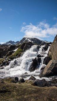 Waterfall, Wilderness, Landscape, Nature, Water, Sky
