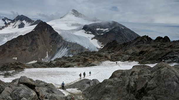 Glacier, Mountains, Snow, Hike, Alpine, Massif