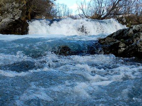 Waterfall, Cascade, Threshold, Spillway, Autumn