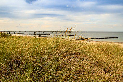 Baltic Sea, Beach, Sea, Nature, Dunes, Sand Beach