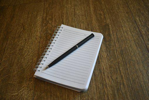 Notebook, Pen, Book, Dairy, Writing, Paper, Note, Write