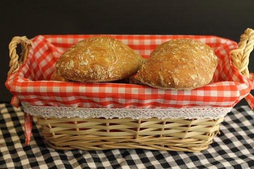 Food, Bread, Bread Roll, Homemade, Basket, Breakfast