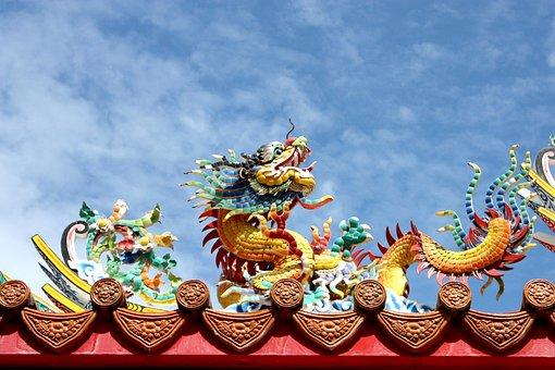 Measure, Dragon, China, Architecture, Statue, Faith