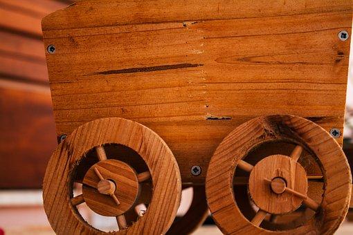 Cart, Wood, Craftsmanship, Craftsman, Handmade