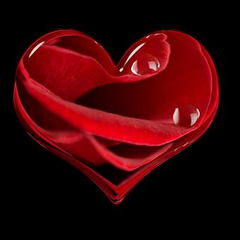 Heart, Flower Heart, Valentine, Red, Element, Love