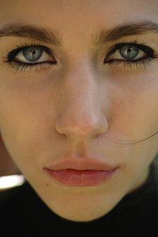 Eyes, Eye, Girl, Women's, Sad, Overview, Face, Portrait