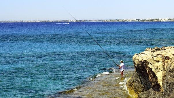 Fishing Time, Summer, Leisure, Hobby, Fisherman
