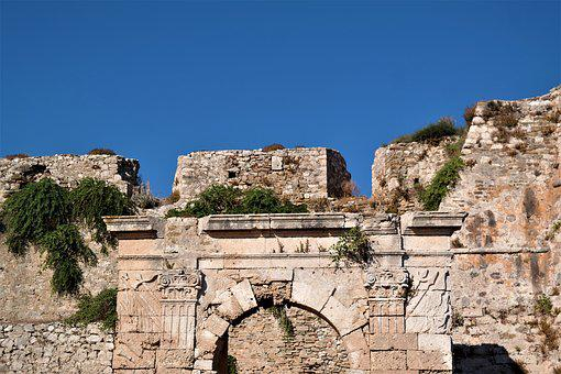 Castle, Fortress, Input, Color, Greece, Methoni