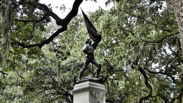 Savannah, Statue, Georgia, Sightseeing, Monument