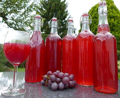 Grape Juice, Homemade, Harvest, Yield, Autumn, Healthy