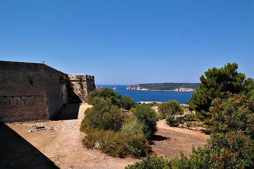 Castle, Fortress, Places Of Interest, Greece, Pylos