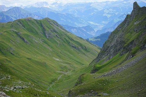 Mountains, Switzerland, Hiking, Nature, Landscape