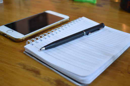 Notebook, Pen, Iphone, Business, Office, Workplace