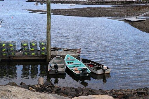 Lobster Traps, Portsmouth Harbor, Portsmouth Nh, Skiffs