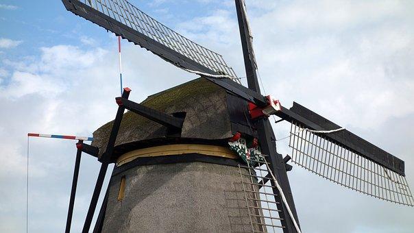 Mill, Wind Mill, Wicks, Mill Blades, Mill Detail