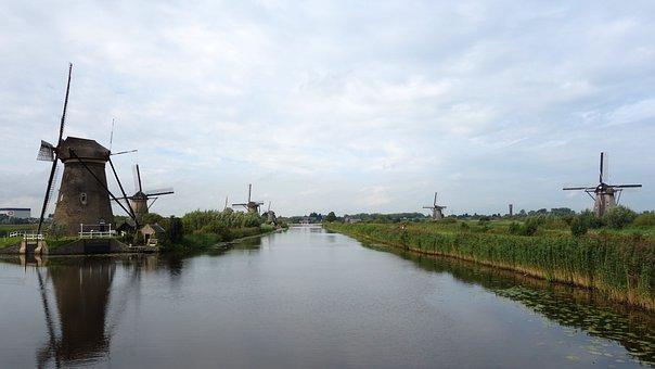 Mills, Kinderdijk, Windmills, Cultural Heritage