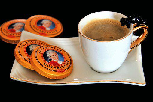 Coffee, Coffee Cup, Mozart Taler From Mirabell