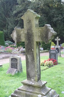 Cross, Old Cross, Memorial Stone, Cemetery, Old