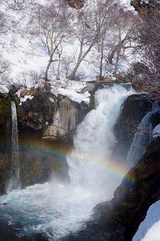 Waterfall, Cascade, Threshold, Spillway, Winter