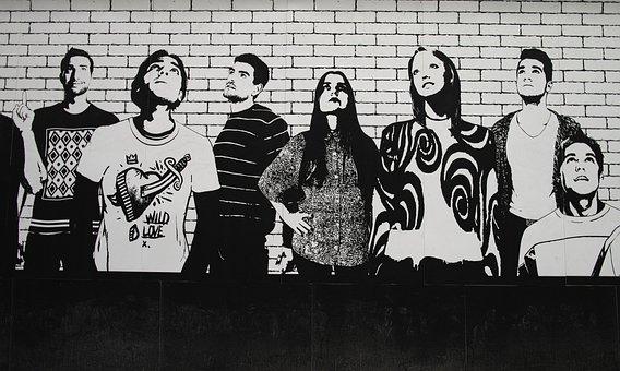 Graffiti, Wall, Art, Color Image, No People, Fine Arts