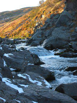 Waterfall, Spillway, Autumn, Mountain Stream, Mountains