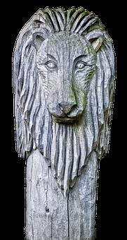 Sculpture, Holzfigur, Lion, Mane, Animal, Wood Carving