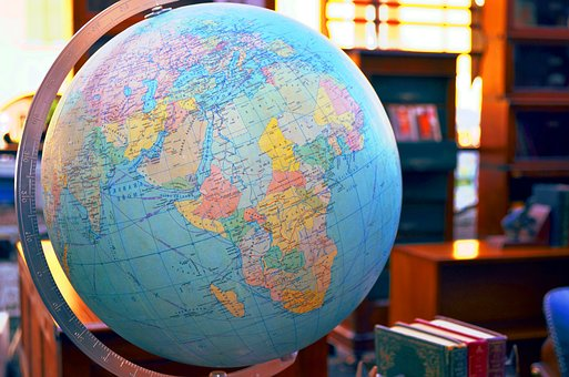 Map Of The World, Antiques, The Globe, Flea Market