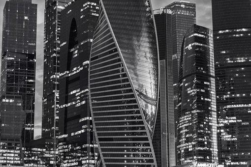 Moscow City, Architecture, City, Town, Russia, Moscow