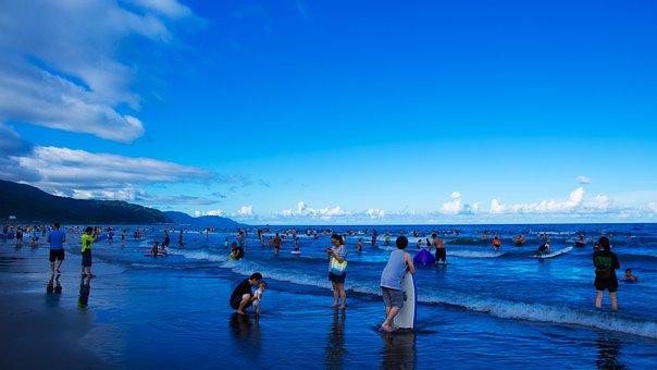 Hai Bian, Sky, Blue
