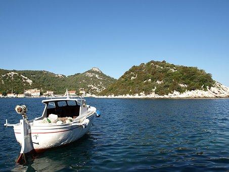 Sea, Lastovo, Adriatic, Water, Coast, Boat, Vacation
