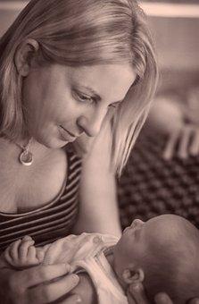 Baby, Mother, Motherhood, Girl, Newborn, Cradling, Care