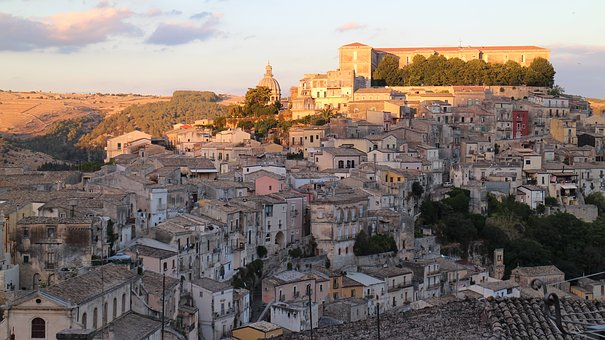Ragusa, Sicily, Italy, Palazzo, Cathedral, Old Town