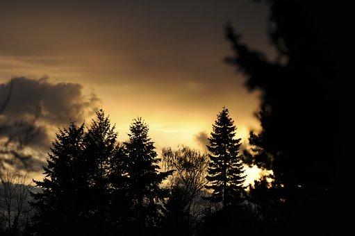 Abendstimmung, Evening, Sunset, Clouds, Sky, Dusk, Mood