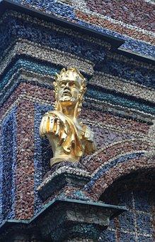 Statue, Bust, Golden, Head, Face, Sculpture, Art