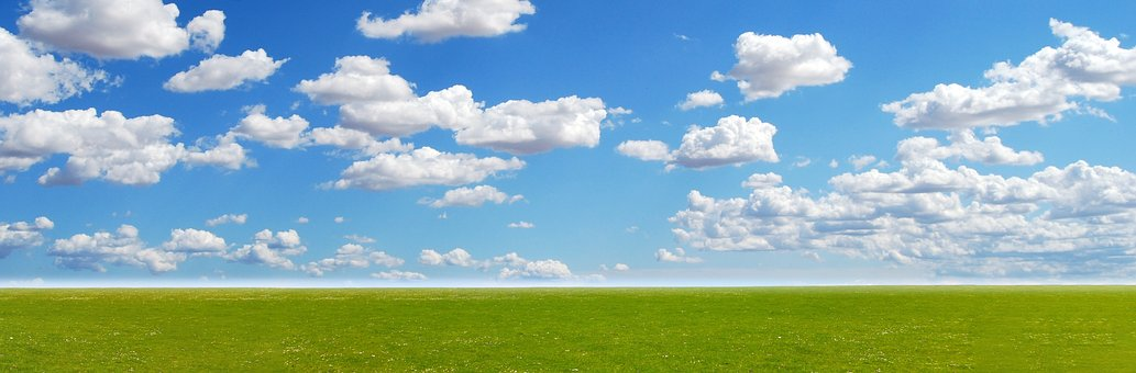 Meadow, Sky, Landscape, Nature, Field, Spring, Clouds